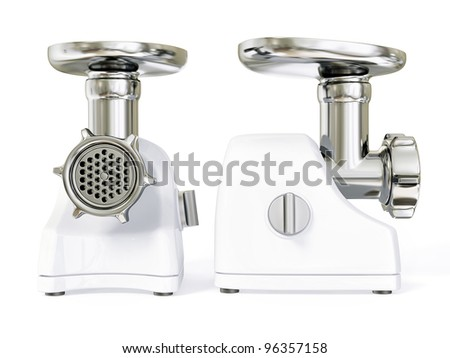electric meat grinder isolated on a white.