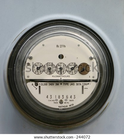 Electric Meter - stock photo