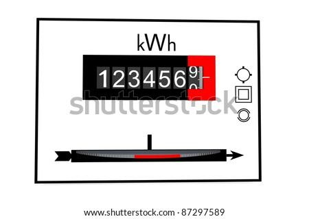 Electric meter - stock photo