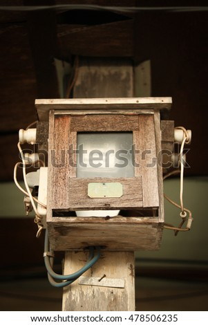 Electric meter boxes,Vintage Item,Nakhon Phanom,THAILAND