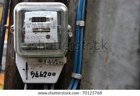 Electric meter. closeup for design work - stock photo
