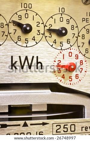 Electric Meter Dials - stock photo