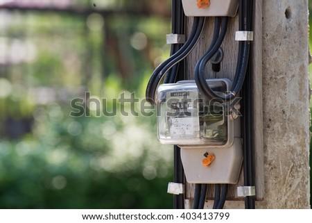 electric meters - stock photo