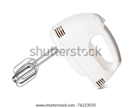 electric mixer. Isolated on white background with clipping path - stock photo