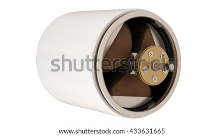 Electric motor  isolated on white background. 3D image
