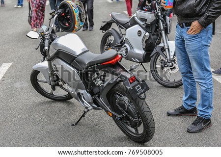 Electric Motorcycle Super Soco   Ukraine, Kiev   August 23, 2017