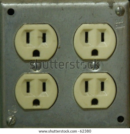 Electric outlet - stock photo