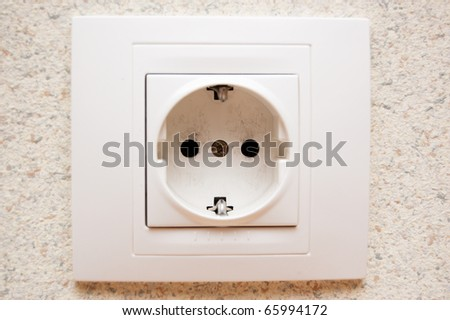 electric outlet on the wall - stock photo