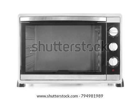 Electric oven on white background
