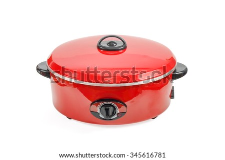 Electric  pan for cooking isolated on clean background - stock photo