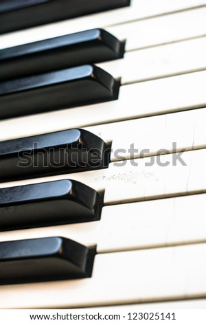 electric piano close up - stock photo