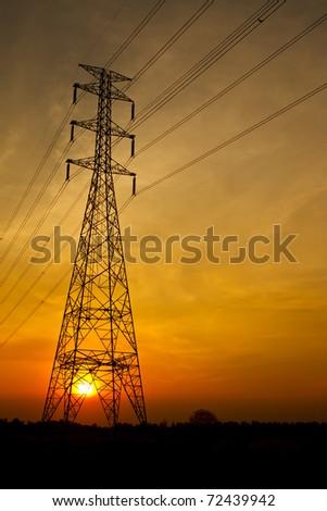 Electric pillar - stock photo