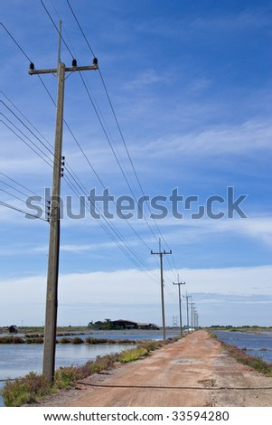 Electric pillar in country of Thailand
