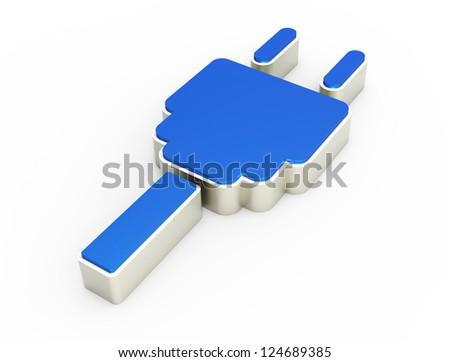 electric plug icon 3D - stock photo