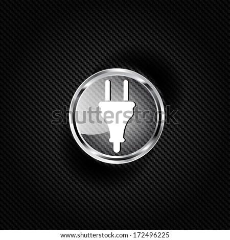 electric plug icon. electric fork symbol - stock photo