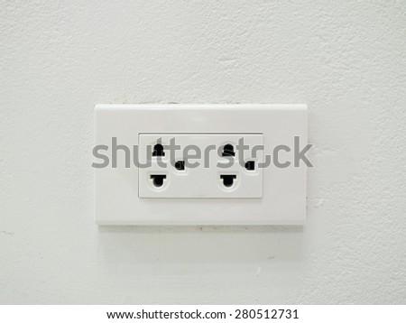 electric plug In the house - stock photo