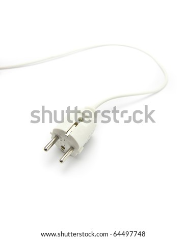 Electric plug isolated on a white background - stock photo