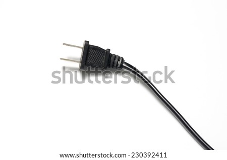 electric plug on a white background - stock photo