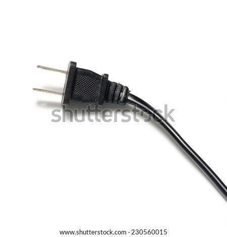 electric plug on a white background