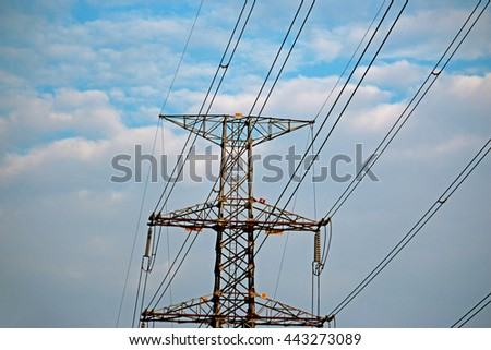 Electric pole high voltage
