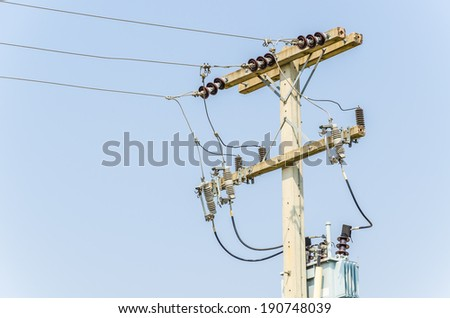 Electric post - stock photo