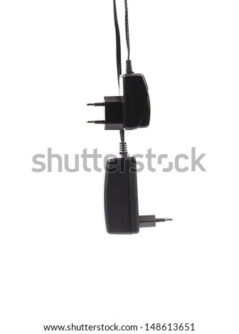 Electric power adapters. Close up.