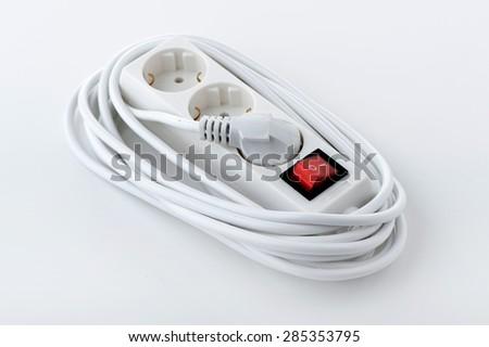 Electric power bar close up - stock photo