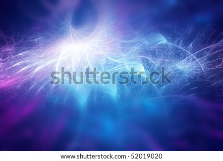 Electric power, blue abstract background
