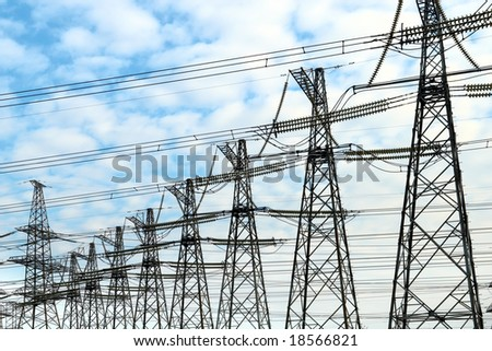 Electric power masts