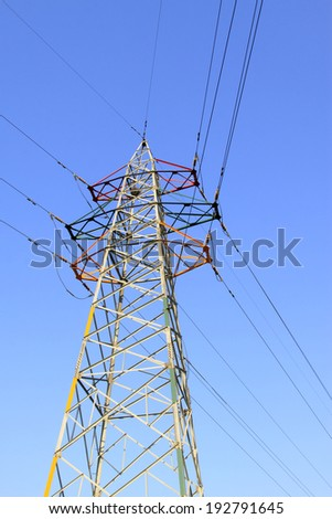 electric power under sky, closeup of photo