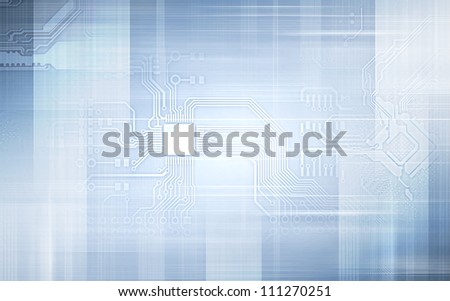Electric scheme for design use. Colour illustration - stock photo