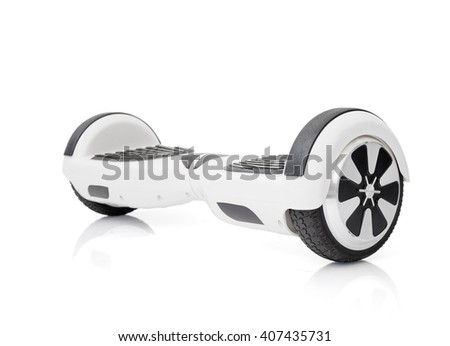 Electric scooter on white background - stock photo