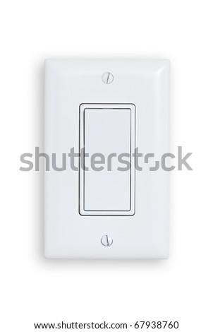 electric single switch isolated on white