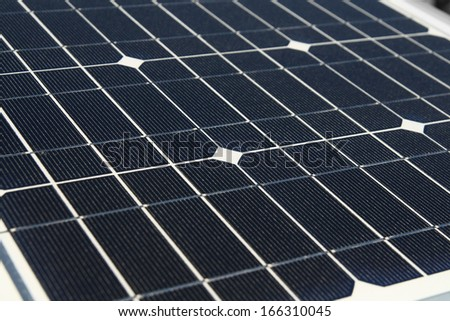 Electric solar cells - stock photo