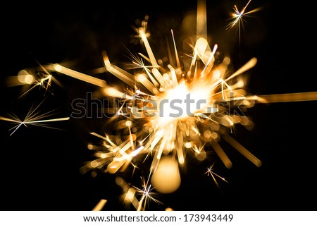 Electric sparklers background - stock photo