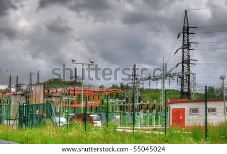 Electric station - stock photo