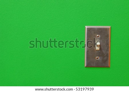 Electric switch with space for text - stock photo