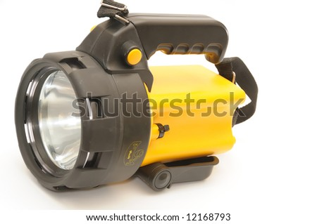 electric torch, isolated on white background