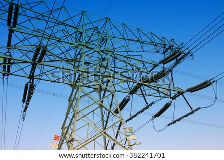 electric tower, closeup of photo