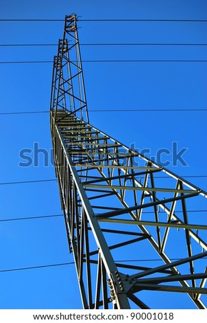 Electric Towers and blue sky