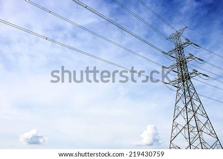 Electric Transmission Tower, Bangkok  Thailand - stock photo