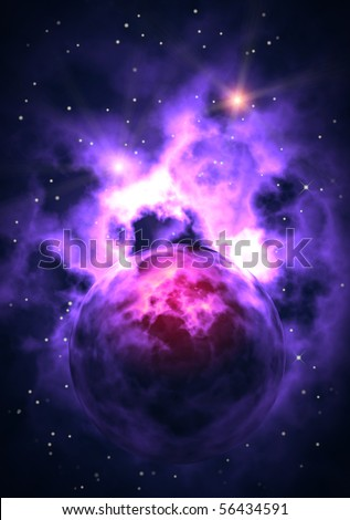 electric universe - stock photo