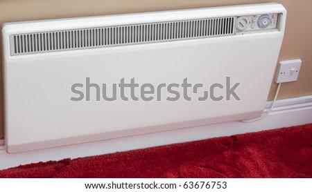 Electric wall radiator - stock photo