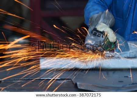 electric wheel grinding. - stock photo