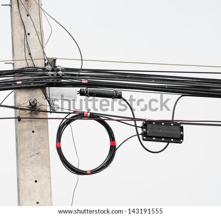 electric wire - stock photo