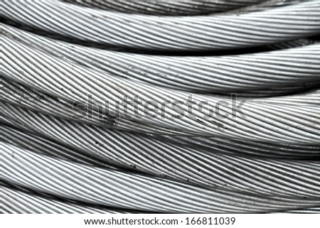 Electrical aluminum wire texture