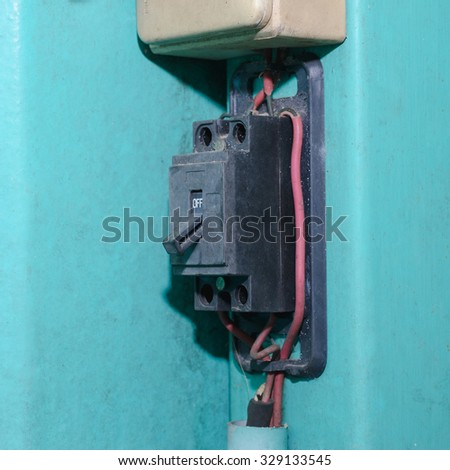 Electrical breakers - stock photo