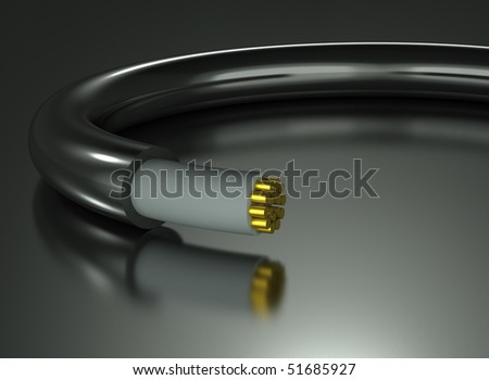 Electrical Cable - stock photo