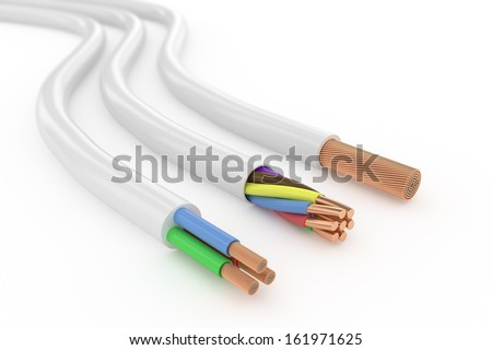 Electrical cables - stock photo