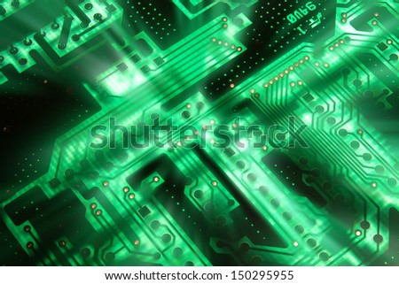 Electrical circuit - stock photo